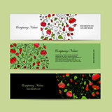 Banners design, floral background