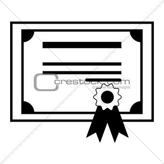 Certificate  the black color icon .