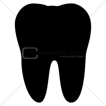 Tooth  the black color icon .