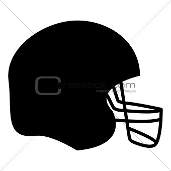 American football helmet  the black color icon .