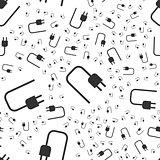 socket plug seamless pattern
