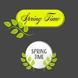 Springtime banners set