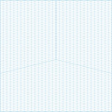 Wide angle isometric grid graph paper background