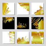 Gold background postcards