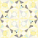 Kaleidoscope glass mosaic tiles seamless vector pattern.