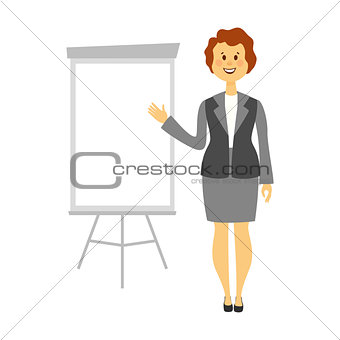 Beautiful smiling business woman isolated white background