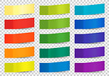 Set of colorful vector sticky notes on white background