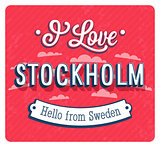 Vintage greeting card from Stockholm - Sweden.