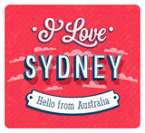 Vintage greeting card from Sydney - Australia.