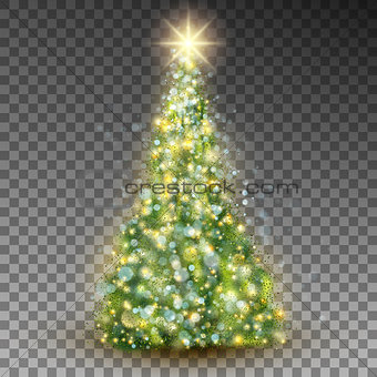 Green abstract Christmas tree. EPS 10 vector
