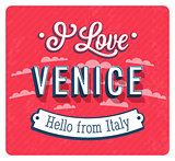 Vintage greeting card from Venice - Italy.