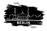 Berlin Skyline Silhouette. Hand Drawn Sketch.