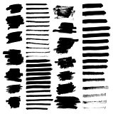 Set of different grunge brush strokes.