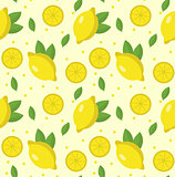 Lemon seamless pattern. Lemonade endless background, texture. Fruits background. Vector illustration.
