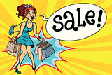 joyful woman hot sale pop art