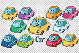 car vehicle automobile collection set neutral background