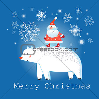 Greeting graphics Christmas card