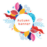 Bright colored autumn banner