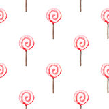 Seamless pattern with lollipop