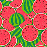Seamless Pattern Background from Watermelon. Vector Illustration