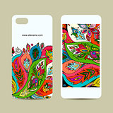 Mobile phone design, floral background