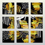 Gold background postcards