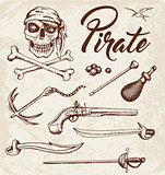 Weapons of pirates.
