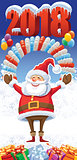 New Year 2018 with Santa Claus
