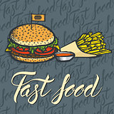 Vector food concept