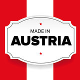 Made in Austria label
