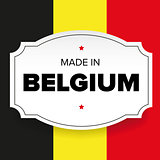 Made in Belgium label