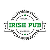 Irish pub vintage stamp