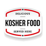 Kosher Food vintage label