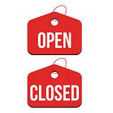 Open Closed hanger set