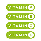 Vitamins set button green
