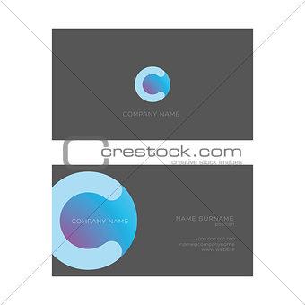 Business Card template dark