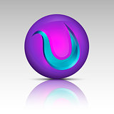 Purple colored circle logo