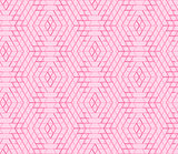 Seamless geometric pattern, hexagon abstract background, pink vector universal wallpaper