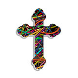 Colorful Orthodox Cross