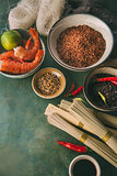 Ingredients for cooking Asian dishes