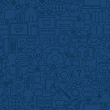 Line Contact Us Seamless Pattern