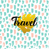 Travel Handwritten Card