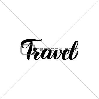 Travel Handwritten Lettering