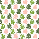 Tropic Plant Seamless Pattern