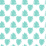 Tropical Leaf Brush Seamless Pattern