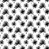 Tropical Palm Brush Seamless Pattern