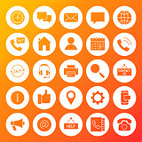 Contact Us Solid Circle Icons