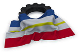 gear wheel and flag of mecklenburg-vorpommern - 3d rendering