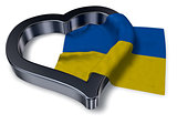 ukrainian flag and heart symbol - 3d rendering
