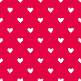 Seamless red pattern with hearts